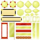 Japanse ornamenten Royalty-vrije Stock Afbeeldingen