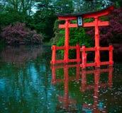 Japanse Oude Poort Royalty-vrije Stock Afbeeldingen