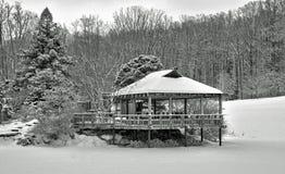 Japanse Pagode in de sneeuw Royalty-vrije Stock Foto's