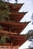 Japanse pagode in Golden Gatepark Royalty-vrije Stock Afbeeldingen