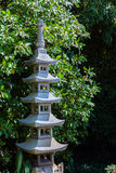 Japanse pagode in tuin Royalty-vrije Stock Afbeelding