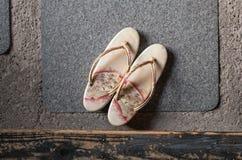 Japanse pantoffels stock afbeeldingen