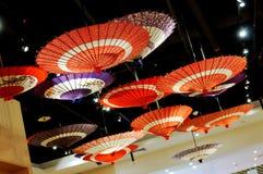Japanse paraplu's Royalty-vrije Stock Afbeeldingen