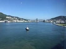 Japanse pijler vóór de tyfoon royalty-vrije stock foto's
