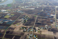 Japanse plattelands luchtmening Royalty-vrije Stock Foto