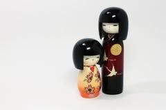 Japanse poppen (jongen en meisje) Royalty-vrije Stock Afbeeldingen