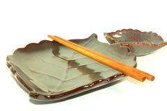 Japanse Reeks 4 van de Plaat van Sushi Royalty-vrije Stock Fotografie