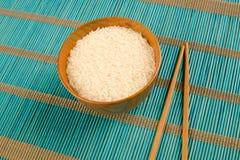 Japanse rijst en eetstokjes royalty-vrije stock afbeelding