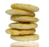 Japanse Rijstcracker met zoete saus (Senbai) op whit Royalty-vrije Stock Afbeeldingen