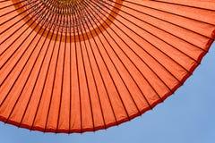 Japanse rode paraplu Royalty-vrije Stock Foto's