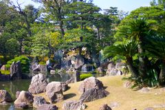 Japanse rotstuin stock fotografie