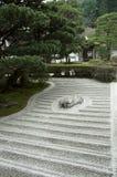 Japanse rotstuin (tuin Zen) Royalty-vrije Stock Foto