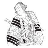 Japanse samoeraien Royalty-vrije Stock Foto's