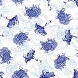 Japanse schildpad en kraan Stock Afbeelding