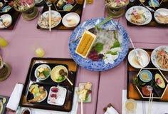 Japanse schotels na diner Stock Foto