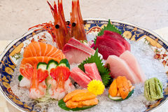 Japanse schotels - sashimi Stock Afbeeldingen