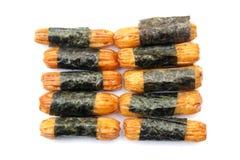 Japanse snack, Norimaki Arare Stock Afbeeldingen
