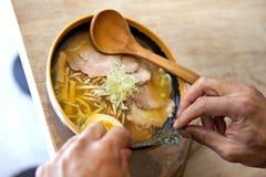 Japanse soep Stock Afbeeldingen