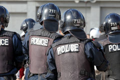 Japanse speciale politieagenten Stock Foto's