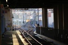 Japanse Spoorweg in Osaka stock fotografie