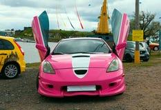 Japanse stemmende sportwagen met lambodeuren Royalty-vrije Stock Foto