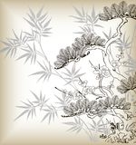 Japanse stijlboom Stock Afbeelding