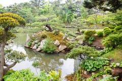 Japanse stijltuin in Hiroshima, Japan royalty-vrije stock afbeeldingen