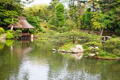 Japanse stijltuin in Hiroshima, Japan royalty-vrije stock afbeelding