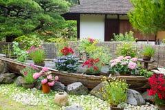 Japanse stijltuin in Hiroshima, Japan stock afbeeldingen