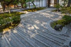 Japanse stijltuin in Kyoto Royalty-vrije Stock Foto's