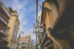 Japanse straat, interestingand elegante straat Het is classicl royalty-vrije stock afbeelding