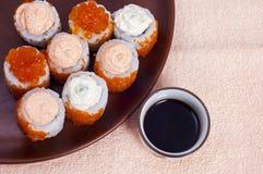 Japanse sush royalty-vrije stock fotografie