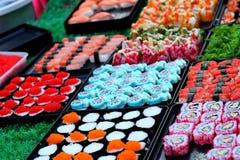 Japanse sushi traditionele heerlijk - Japans voedsel Royalty-vrije Stock Foto's
