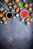 Japanse sushiachtergrond Stock Afbeelding