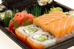 Japanse Sushibroodjes Royalty-vrije Stock Afbeeldingen