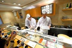 Japanse sushichef-kok Royalty-vrije Stock Afbeeldingen