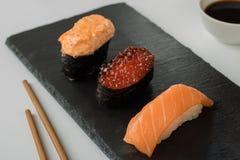 Japanse sushireeks stock afbeelding