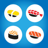 Japanse sushireeks Royalty-vrije Stock Foto