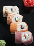 Japanse sushirijst stock afbeelding