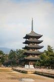 Japanse tempel in de Herfst Stock Fotografie