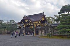 Japanse Tempelbuitenkant Stock Foto's
