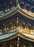 Japanse Tempeldetails Stock Foto's