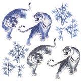 Japanse Tijger Royalty-vrije Stock Afbeeldingen