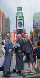 Japanse Toeristen in Times Square Stock Afbeelding