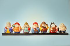 Japanse traditionele cijfers royalty-vrije stock afbeeldingen