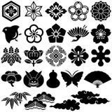Japanse traditionele pictogrammen Royalty-vrije Stock Afbeeldingen