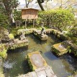 Japanse tuin bij de Tempel Kamakura, Kanagawa, Japan van Hase Kannon Stock Afbeeldingen