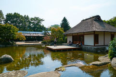 Japanse Tuin bij Planten-het park van de V.N. Blomen hamburg Stock Afbeelding