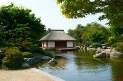 Japanse Tuin bij Planten-het park van de V.N. Blomen hamburg Royalty-vrije Stock Foto's