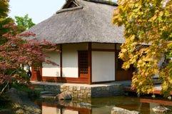 Japanse Tuin bij Planten-het park van de V.N. Blomen hamburg Stock Foto